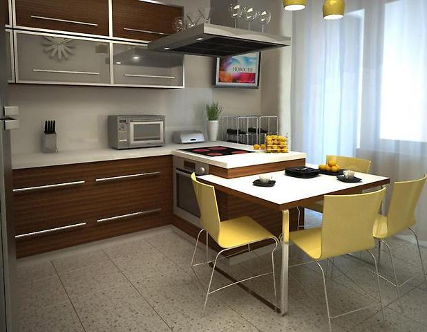 Дизайн 9 кв.м квадратной кухни