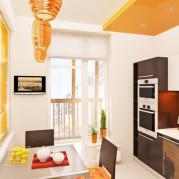 Дизайн кухни 9 кв м двурядной - фото