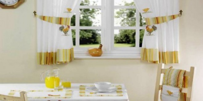 Оформление окна на кухне
