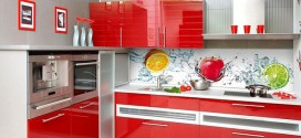 Фартук для кухни из стекла с фотопечатью