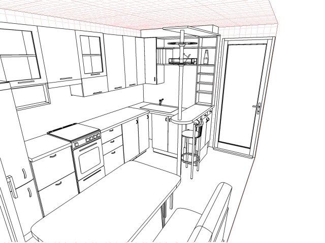 Ремонт кухни фото 6 кв метров фото